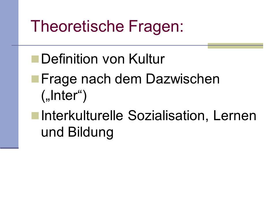 Theoretische Fragen: Definition von Kultur