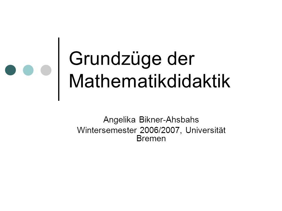 Grundzüge der Mathematikdidaktik