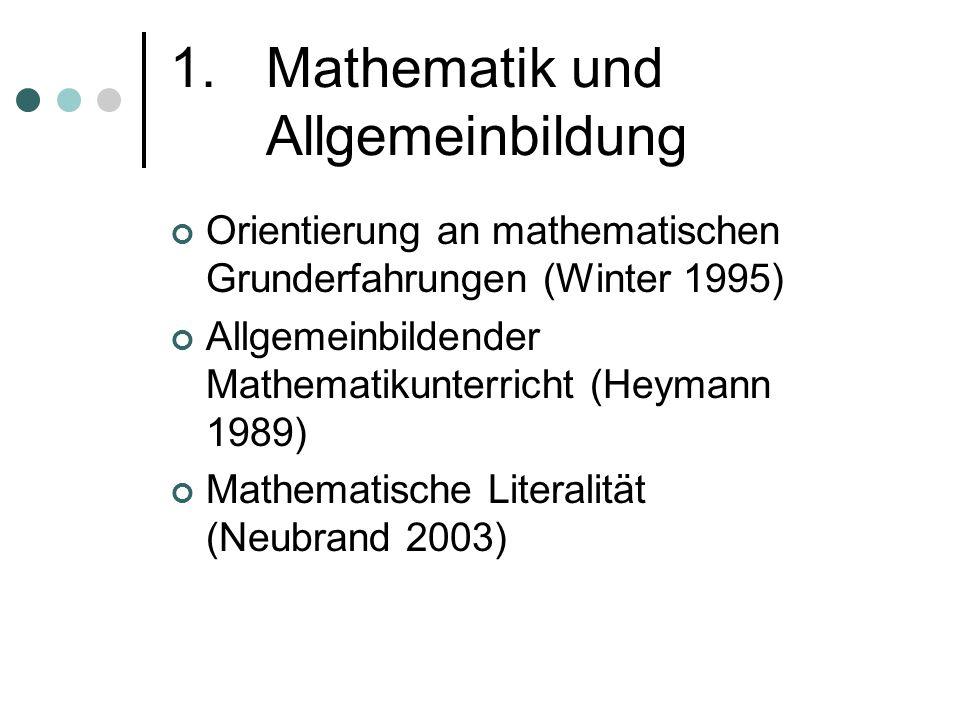 1. Mathematik und Allgemeinbildung