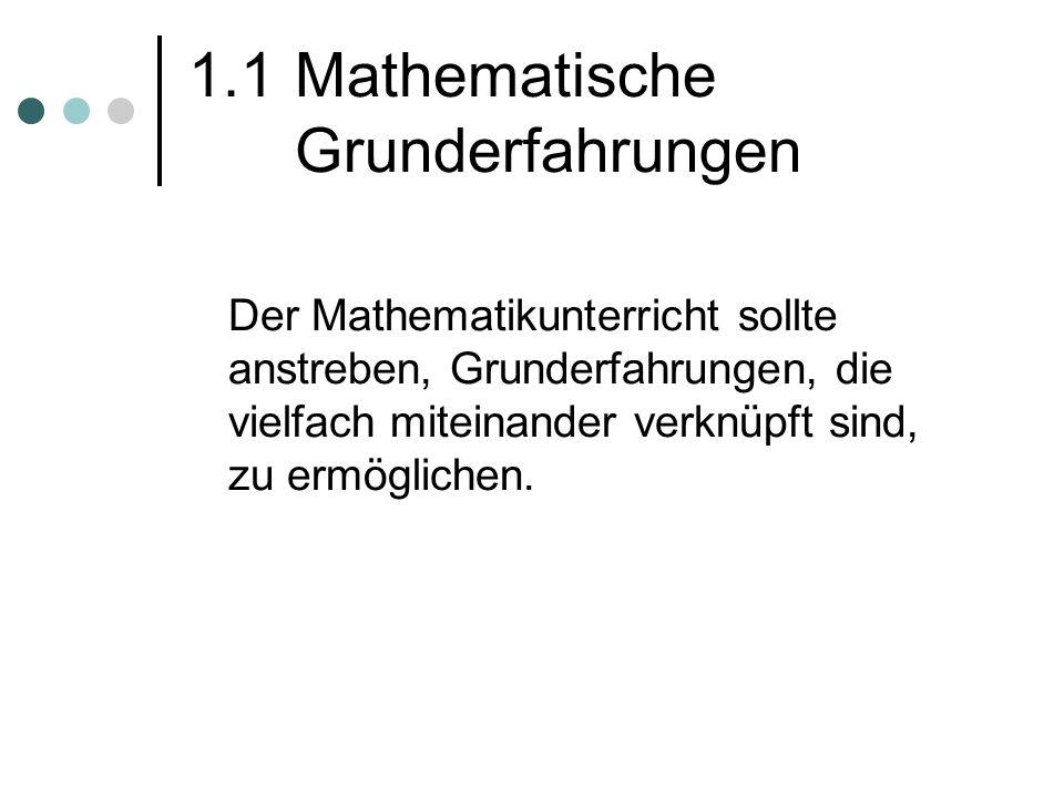 1.1 Mathematische Grunderfahrungen