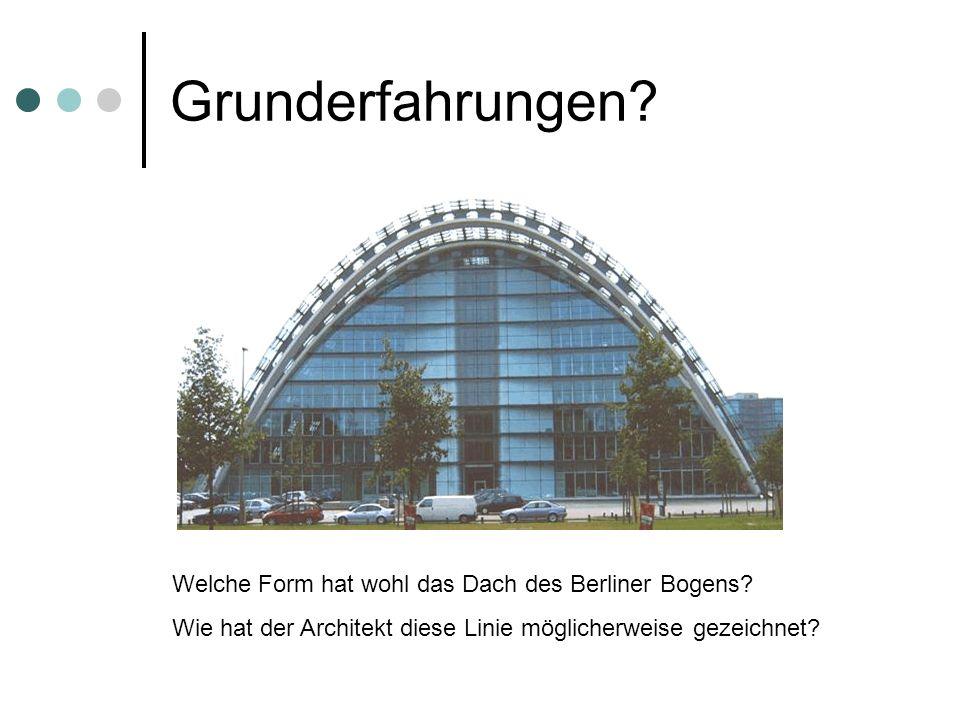 Grunderfahrungen Welche Form hat wohl das Dach des Berliner Bogens