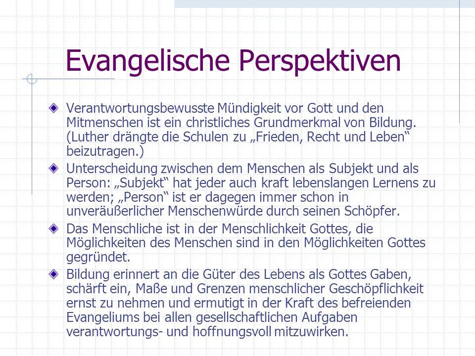 Evangelische Perspektiven