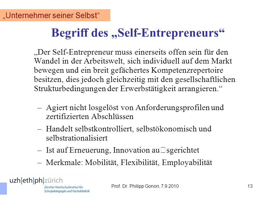 """""""Unternehmer seiner Selbst"""