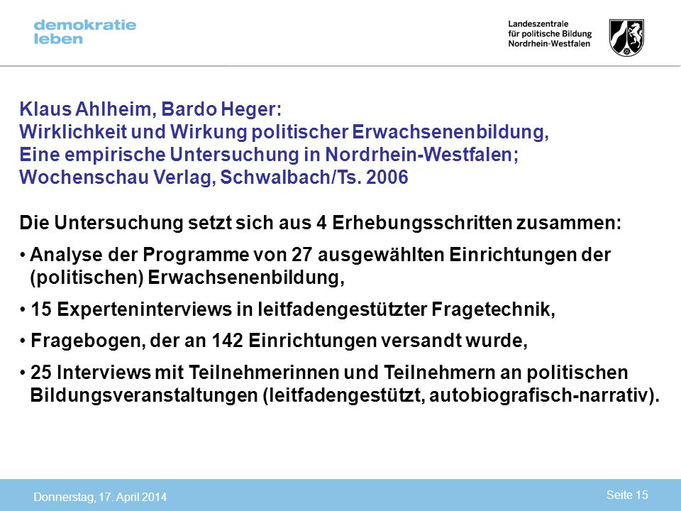 Klaus Ahlheim, Bardo Heger: