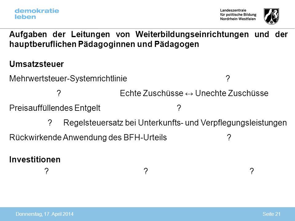 Mehrwertsteuer-Systemrichtlinie