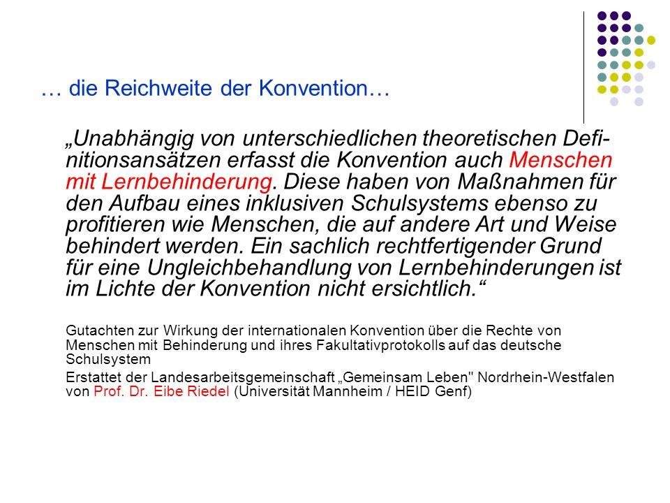 … die Reichweite der Konvention…