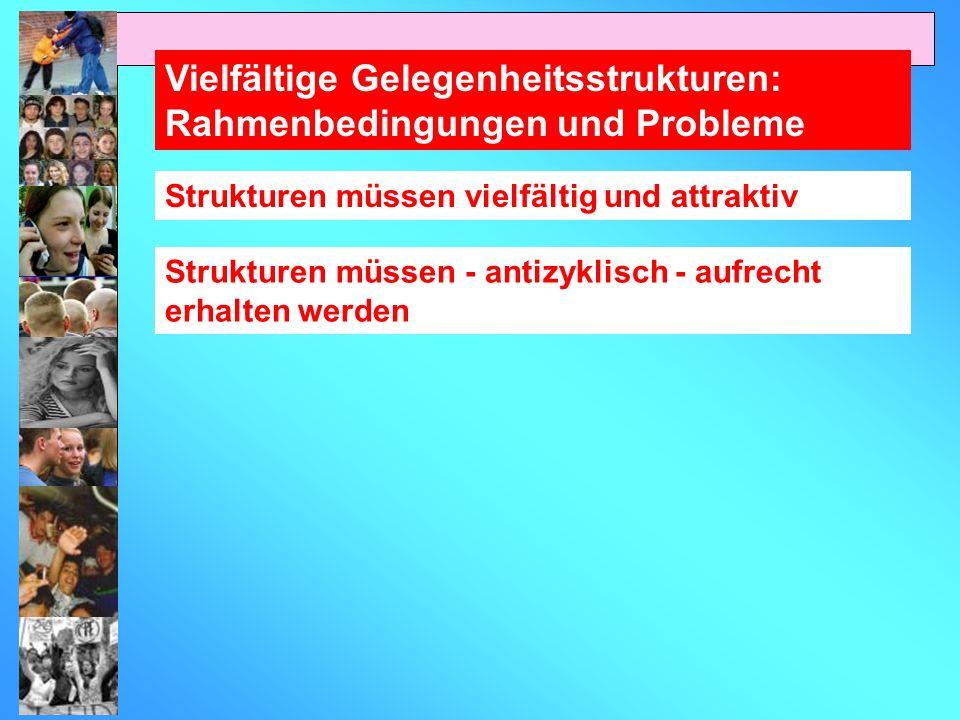 Vielfältige Gelegenheitsstrukturen: Rahmenbedingungen und Probleme