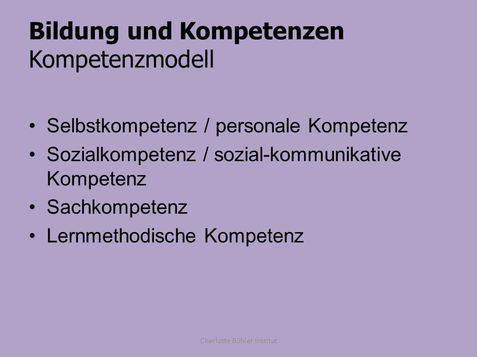 Bildung und Kompetenzen Kompetenzmodell