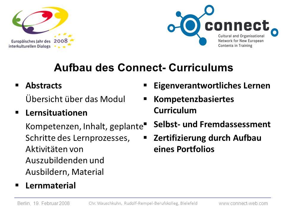 Aufbau des Connect- Curriculums