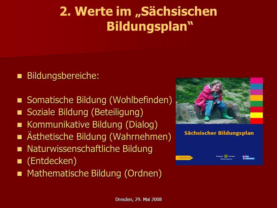 """2. Werte im """"Sächsischen Bildungsplan"""