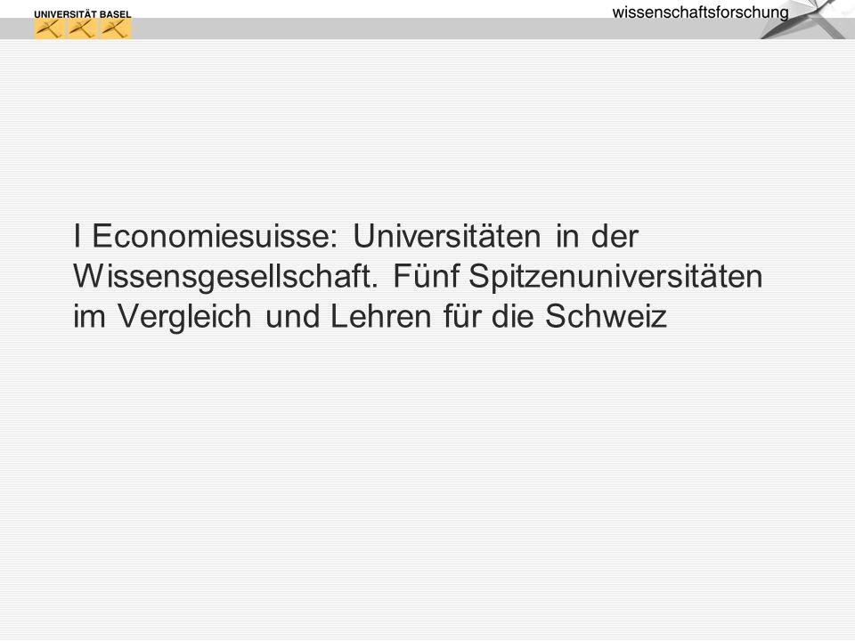 I Economiesuisse: Universitäten in der Wissensgesellschaft
