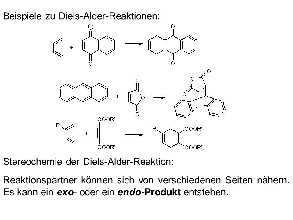 Beispiele zu Diels-Alder-Reaktionen: