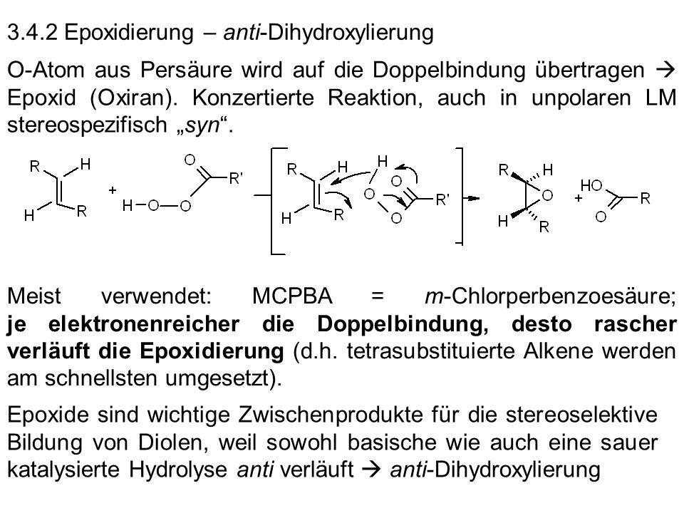 3.4.2 Epoxidierung – anti-Dihydroxylierung