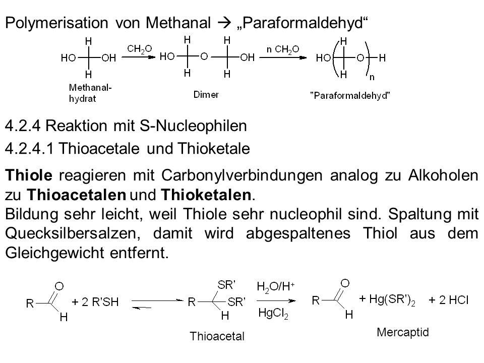 """Polymerisation von Methanal  """"Paraformaldehyd"""