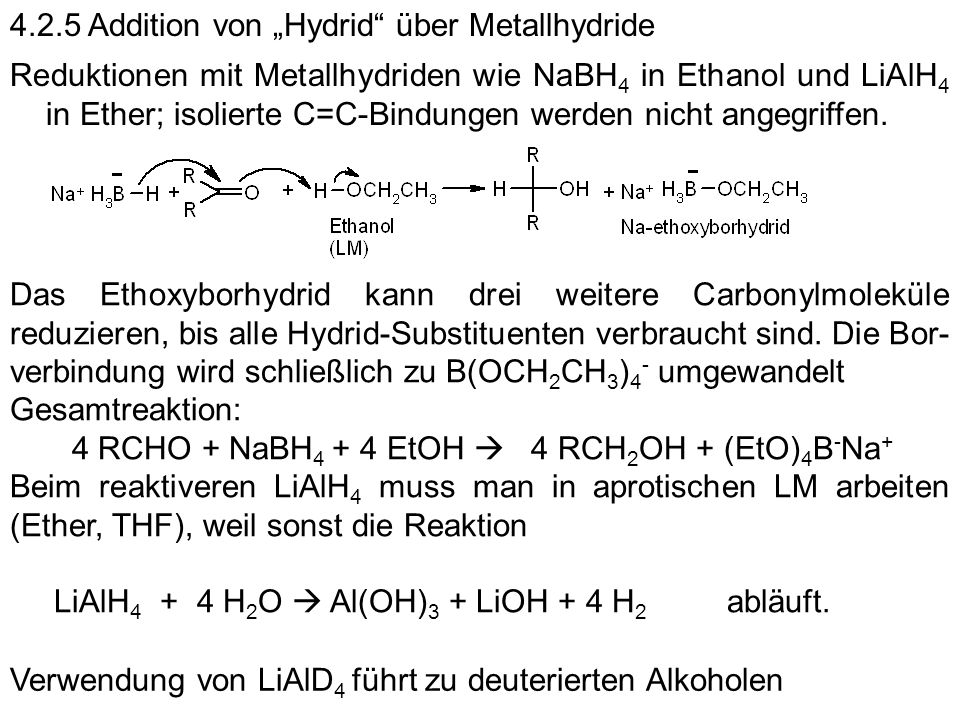 "4.2.5 Addition von ""Hydrid über Metallhydride"