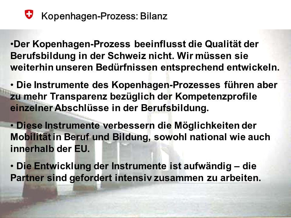 Kopenhagen-Prozess: Bilanz