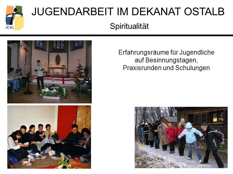 Spiritualität Erfahrungsräume für Jugendliche auf Besinnungstagen,