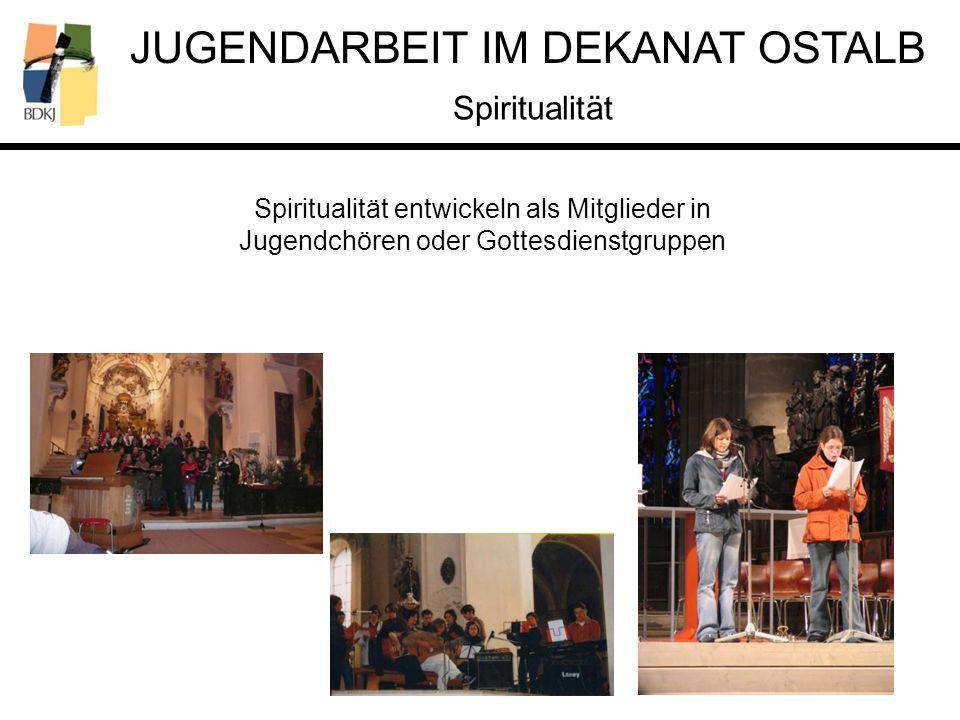 Spiritualität Spiritualität entwickeln als Mitglieder in Jugendchören oder Gottesdienstgruppen