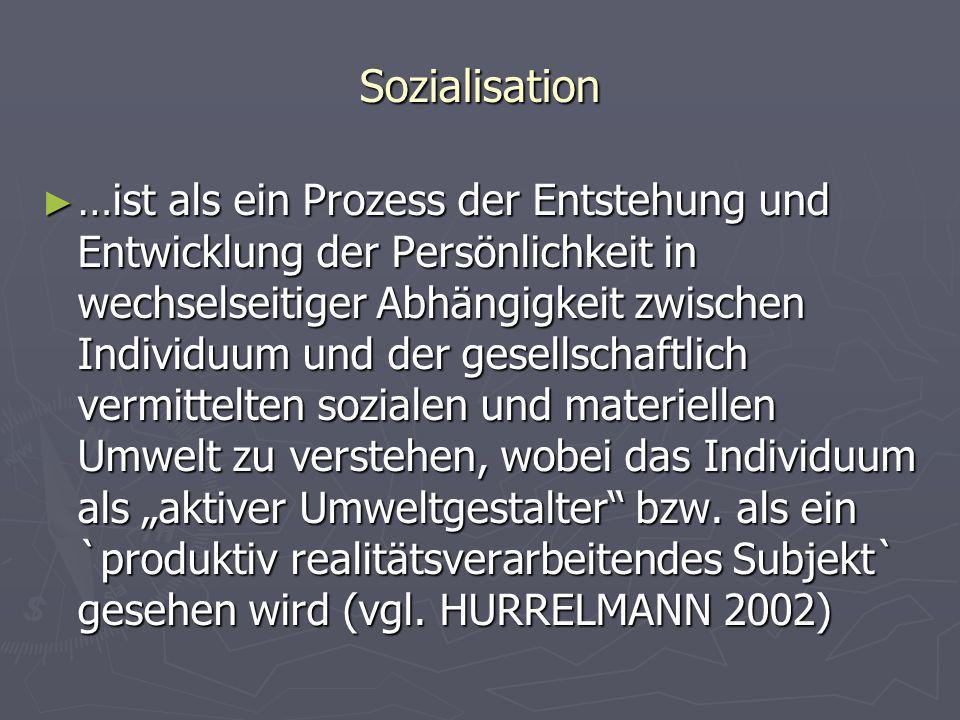 Sozialisation