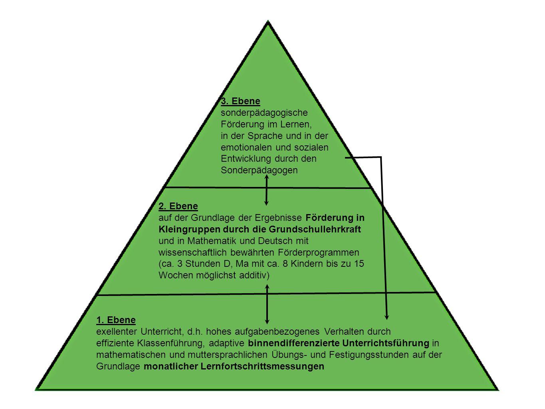 3. Ebene sonderpädagogische. Förderung im Lernen, in der Sprache und in der. emotionalen und sozialen.