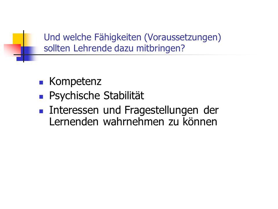 Psychische Stabilität