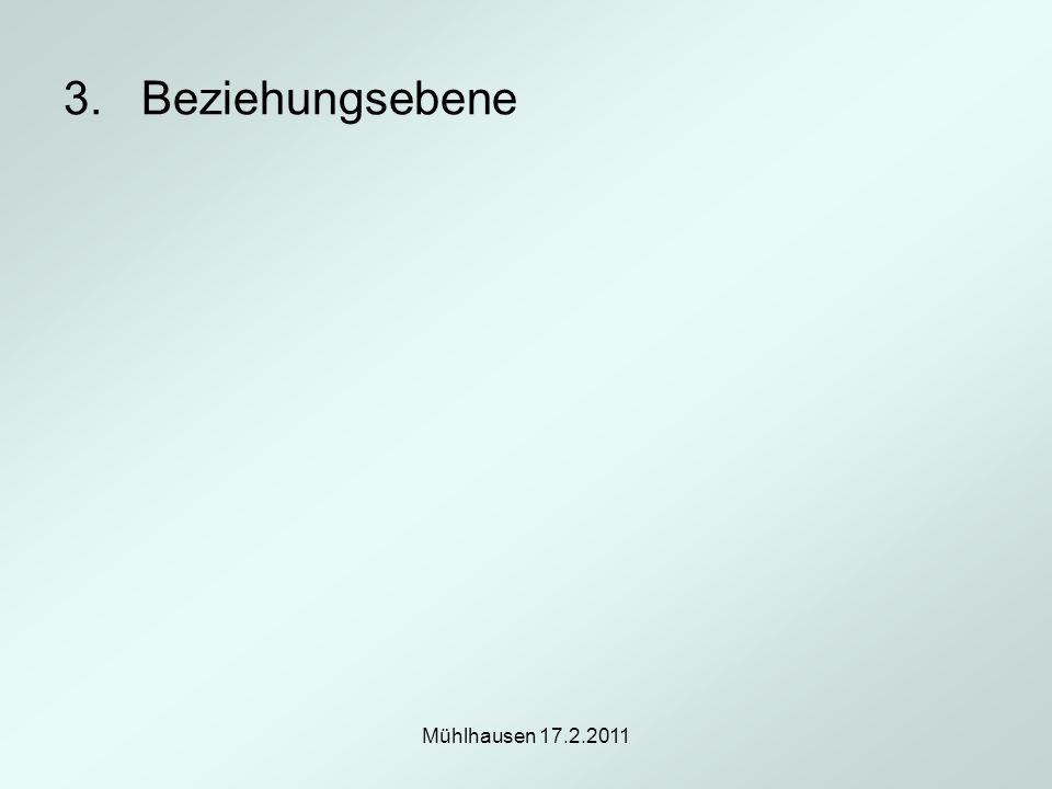 3. Beziehungsebene Mühlhausen 17.2.2011