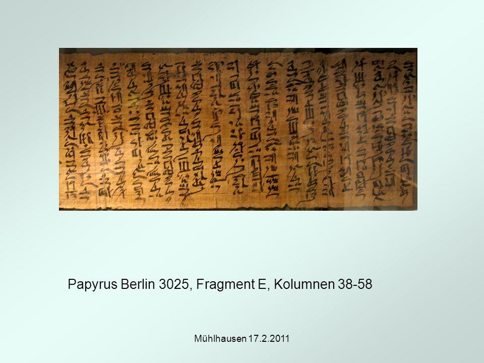 Papyrus Berlin 3025, Fragment E, Kolumnen 38-58