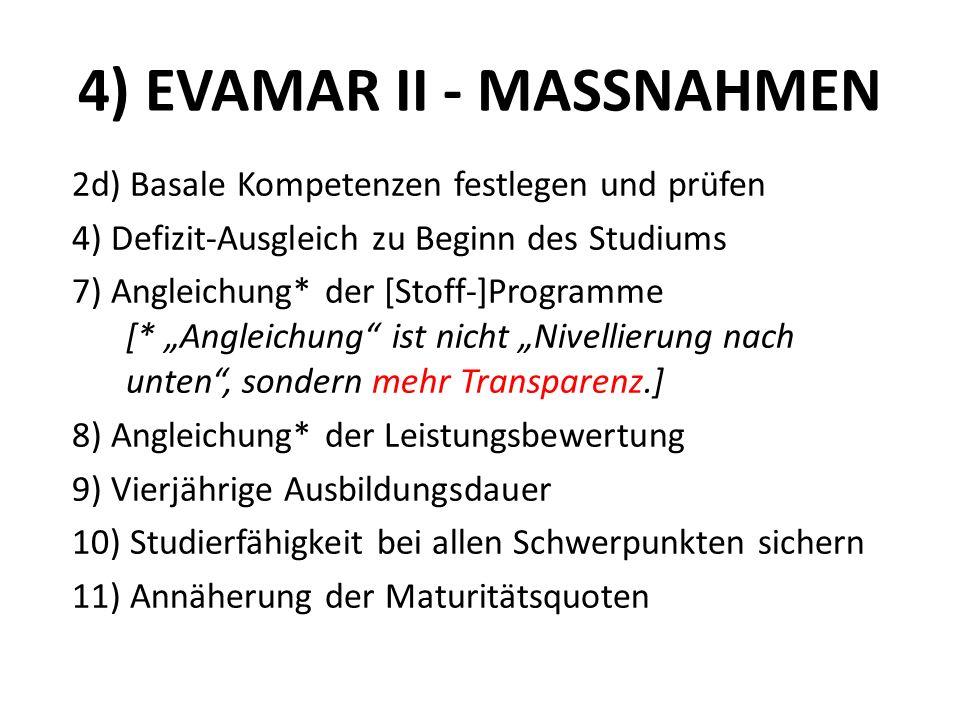 4) EVAMAR II - MASSNAHMEN