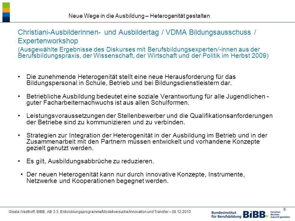 Christiani-Ausbilderinnen- und Ausbildertag / VDMA Bildungsausschuss /