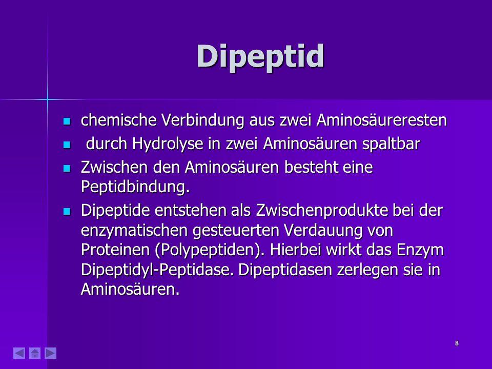 Dipeptid chemische Verbindung aus zwei Aminosäureresten