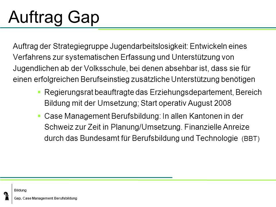 Auftrag Gap