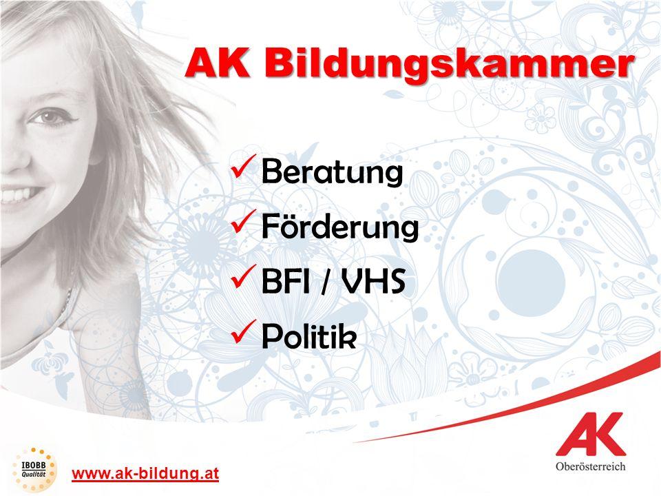 AK Bildungskammer Beratung Förderung BFI / VHS Politik