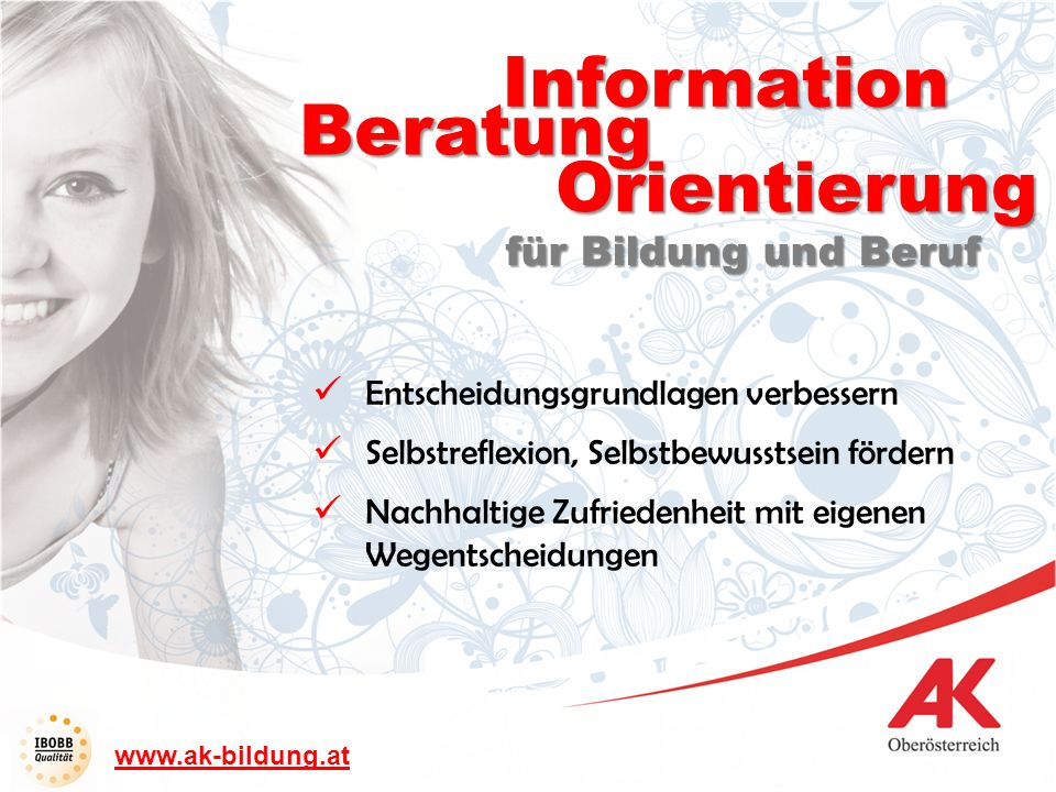Information Beratung Orientierung für Bildung und Beruf