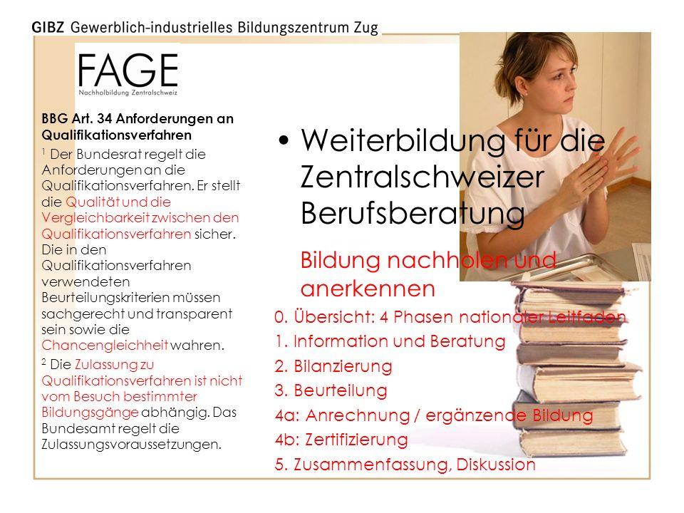 Weiterbildung für die Zentralschweizer Berufsberatung