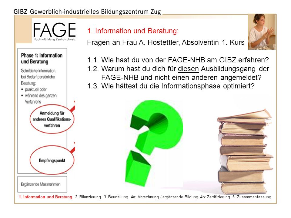 1. Information und Beratung: