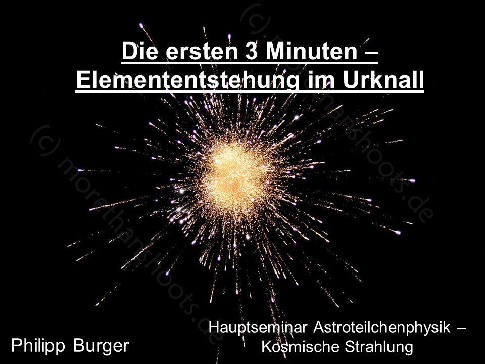 Hauptseminar Astroteilchenphysik – Kosmische Strahlung