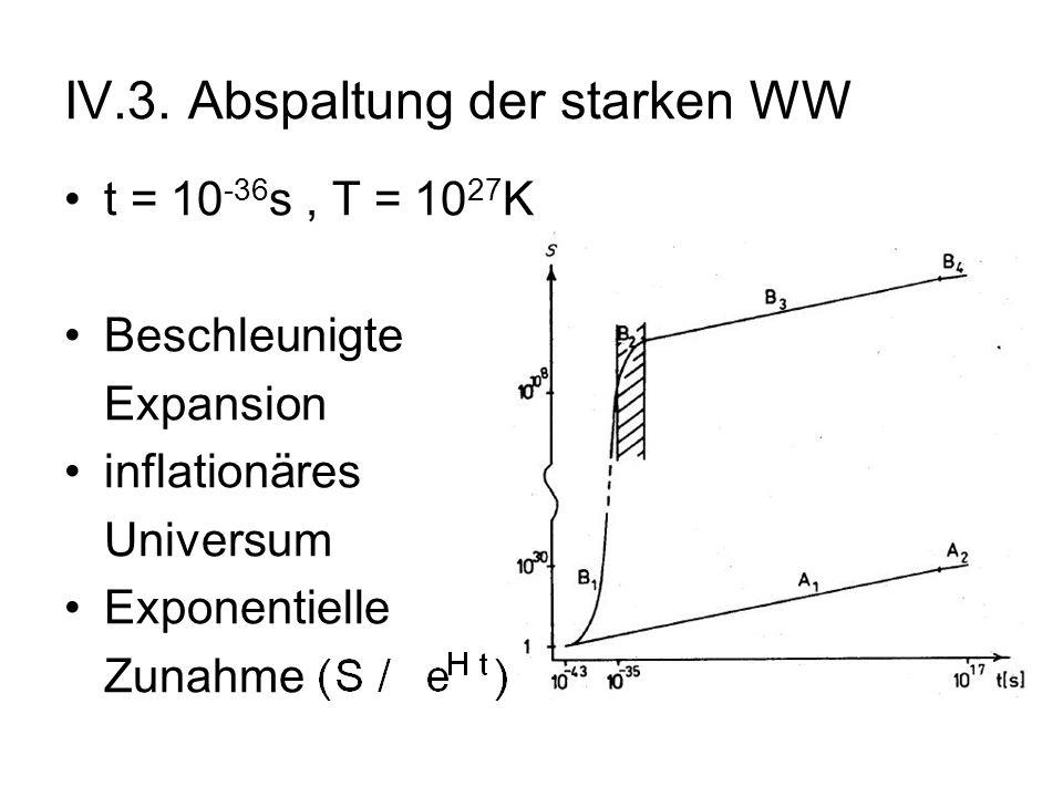 IV.3. Abspaltung der starken WW