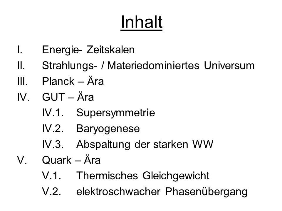 Inhalt I. Energie- Zeitskalen