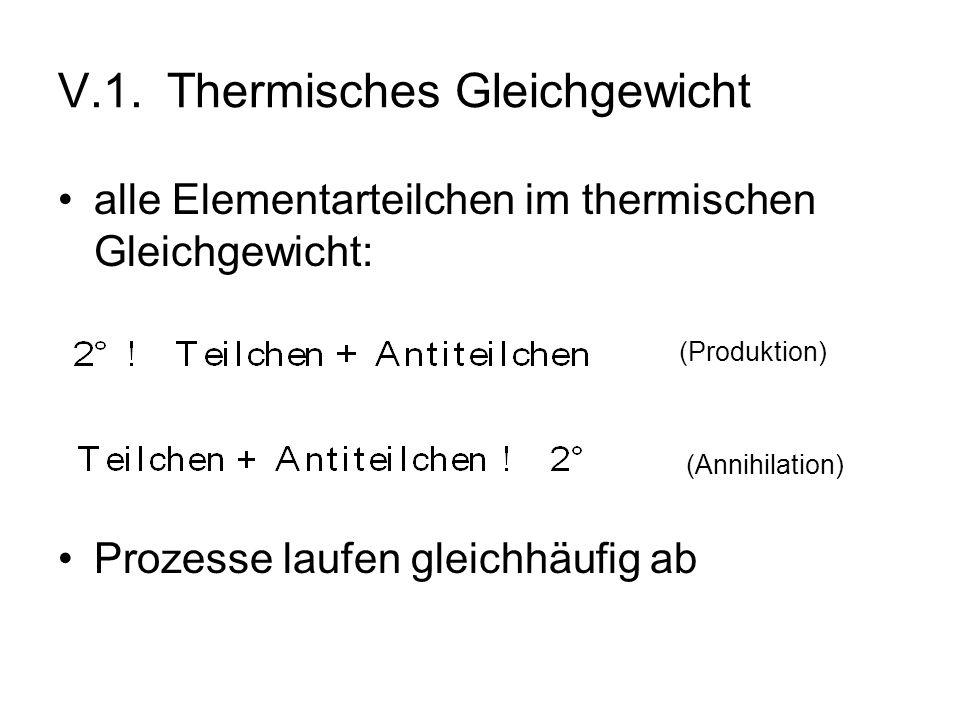 V.1. Thermisches Gleichgewicht