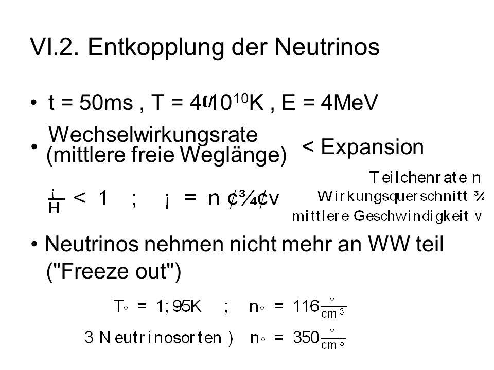 VI.2. Entkopplung der Neutrinos