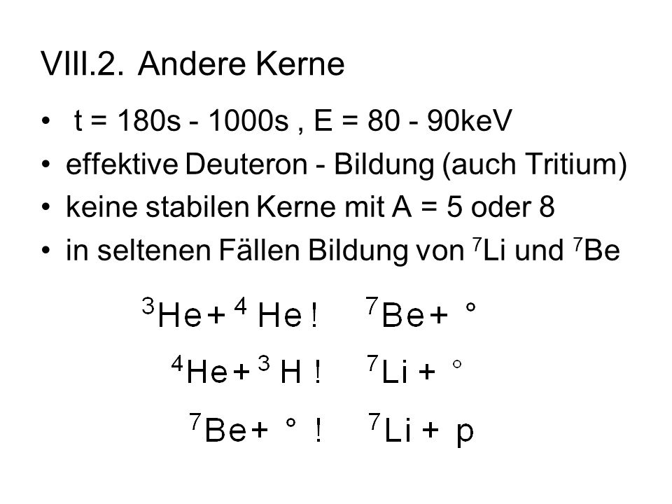 VIII.2. Andere Kerne t = 180s - 1000s , E = 80 - 90keV