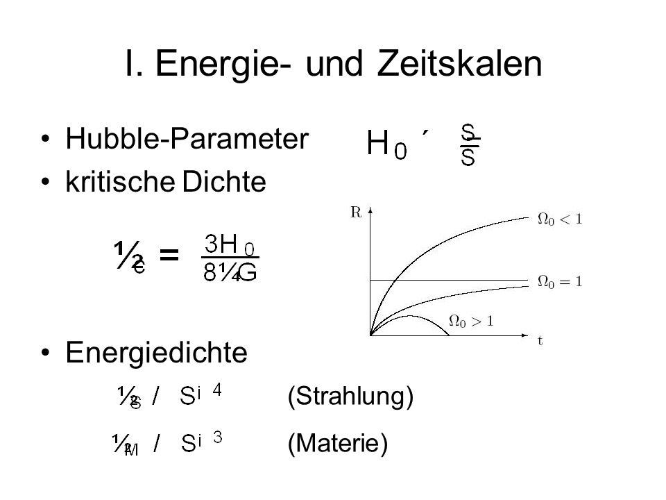 I. Energie- und Zeitskalen
