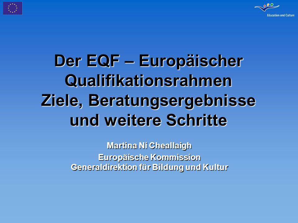 Europäische Kommission Generaldirektion für Bildung und Kultur