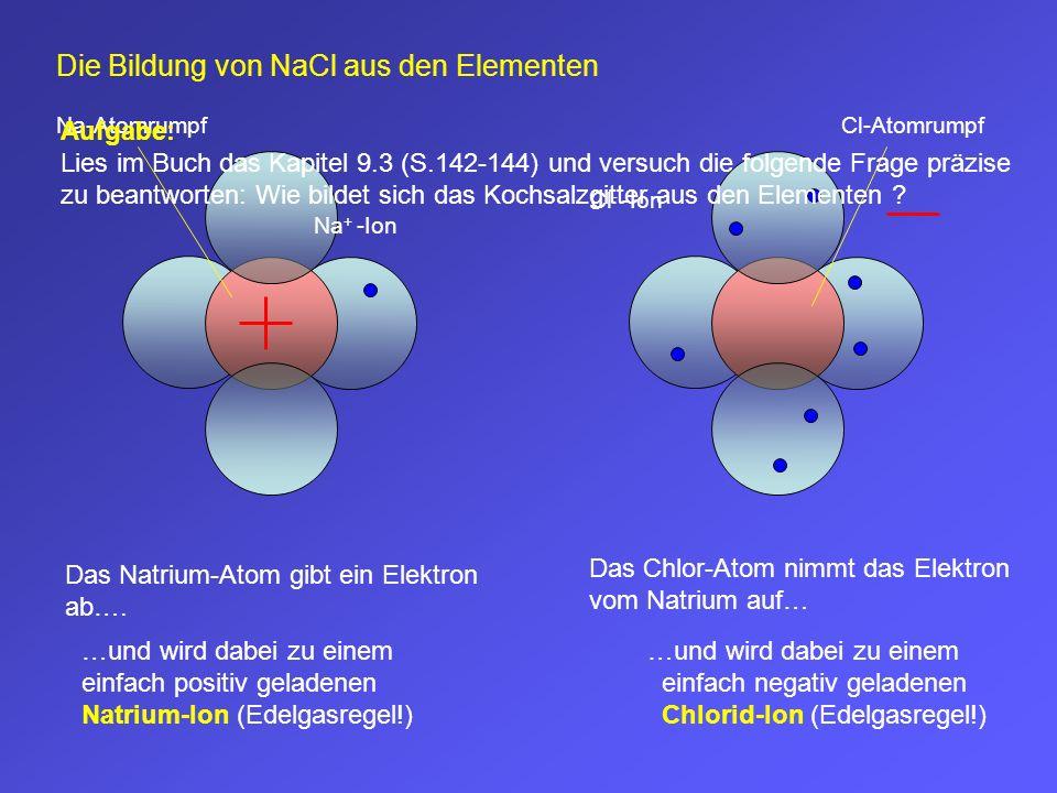 Die Bildung von NaCl aus den Elementen