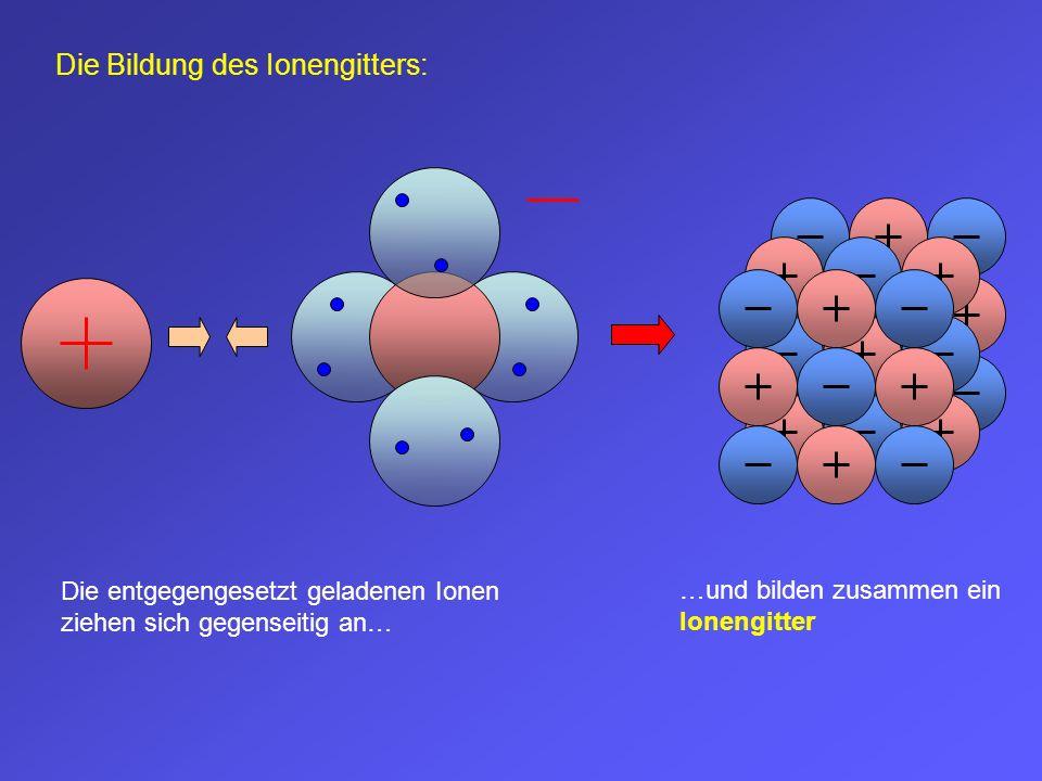 Die Bildung des Ionengitters:
