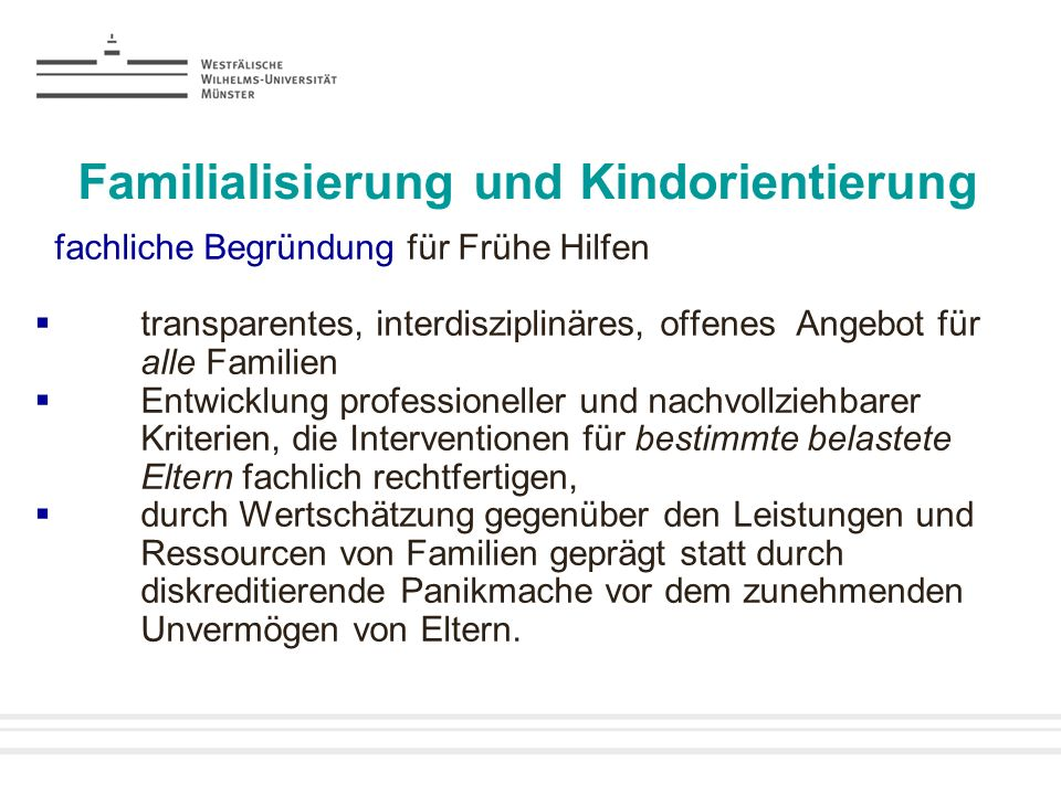 Familialisierung und Kindorientierung