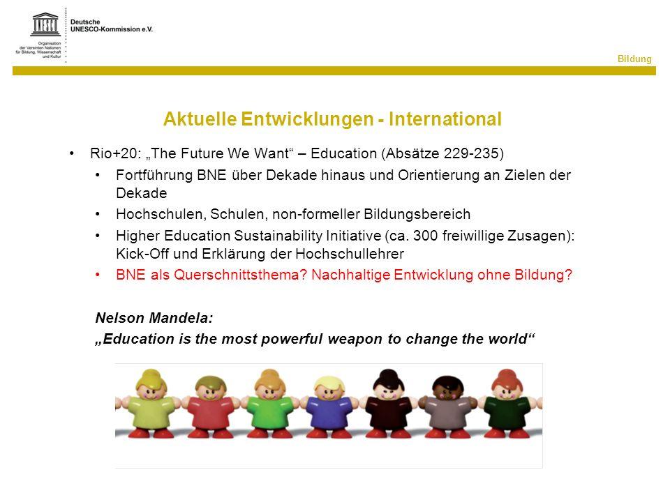 Aktuelle Entwicklungen - International