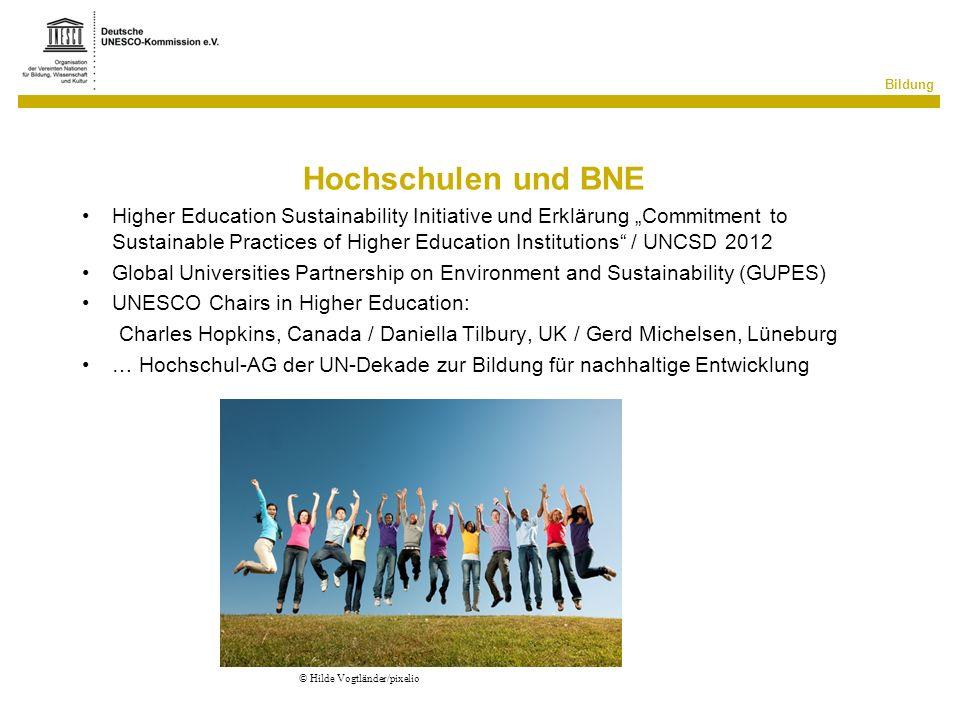Hochschulen und BNE