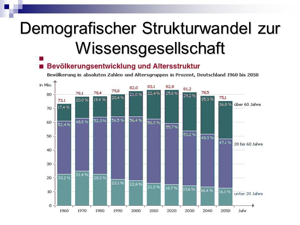 Demografischer Strukturwandel zur Wissensgesellschaft