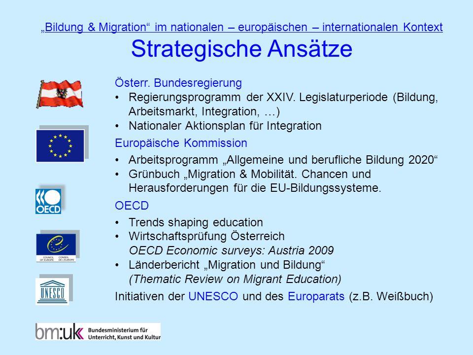 """""""Bildung & Migration im nationalen – europäischen – internationalen Kontext"""